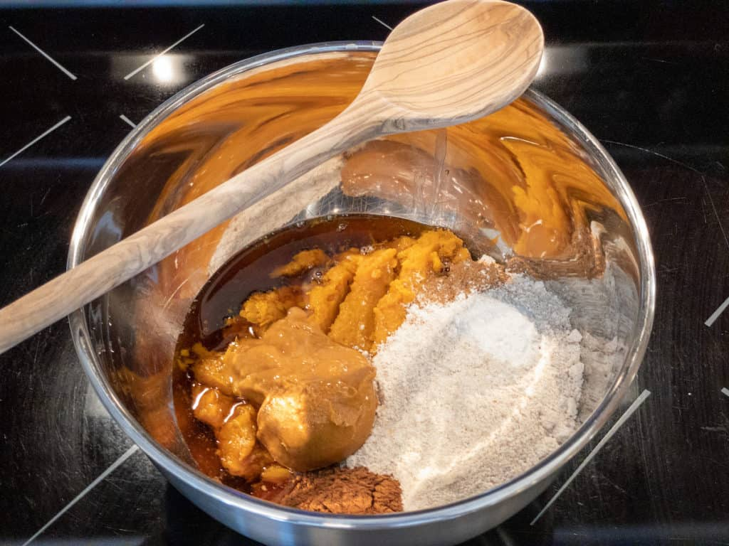 sweet potato mixture ingredients in a large bowl