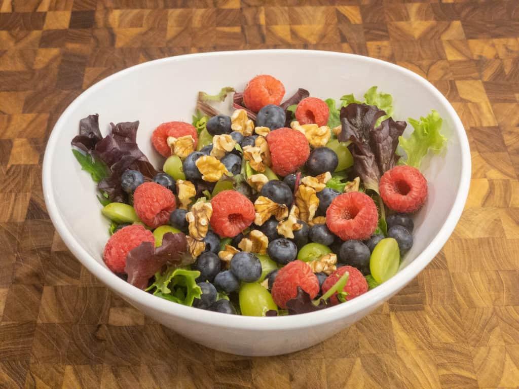 chocolate orange berry salad without chocolate glaze