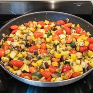 Easy Ratatouille Prepared in Pan