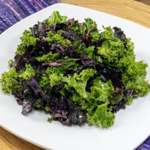 Cooked Greens with Maple Glaze Plated